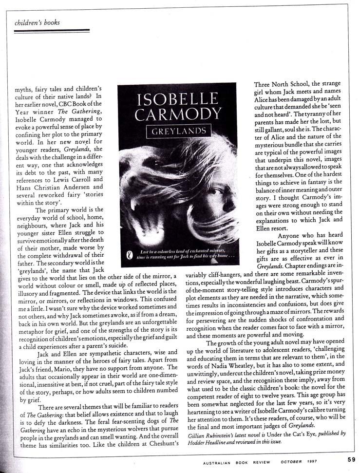 the gathering isobelle carmody The gathering by isobelle carmody - book cover, description, publication history.